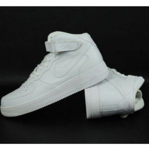 Nike Air Force 1 Mid Mens Shoes White Shoes